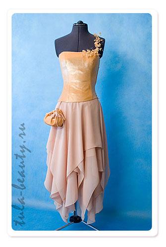 Оранжевое платье как и с чем сочетать