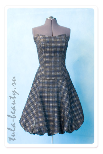 ...очень мне нравится фасон юбки или платья баллон типа такого.